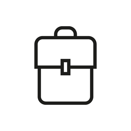 bookbag: Backpack, book bag, kitbag, knapsack, rucksack, pack, sackpack. Created For Mobile, Infographics, Web, Decor, Print Products, Applications. Icon isolated. Vector illustration Illustration