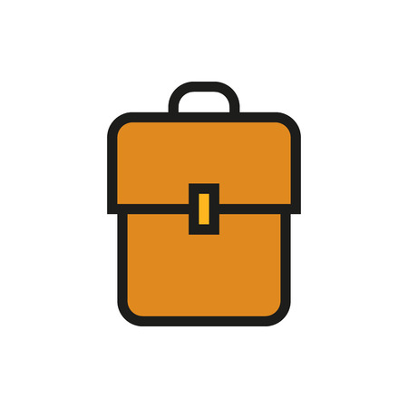 bookbag: Backpack. Created For Mobile, Infographics, Web, Decor, Print Products, Applications. Icon isolated. Vector illustration Illustration