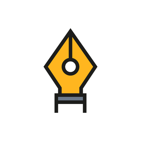 nib: Fountain pen nib icon on white background Created For Mobile, Infographics, Web, Decor, Print Products, Applications. Icon isolated. Vector illustration Illustration