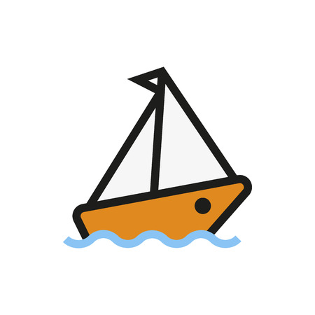 cruise ship icon: Cruise ship icon on white background Created For Mobile, Web, Decor, Print Products, Applications. Icon isolated. Vector illustration Illustration