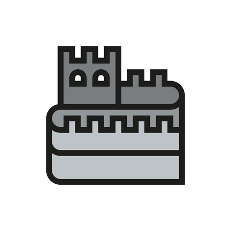 great wall of china: Great Wall of China icon on white background Created For Mobile, Web, Decor, Print Products, Applications. Icon isolated. Vector illustration