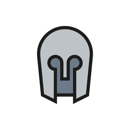past civilizations: medieval helmet icon on white background Created For Mobile, Infographics, Web, Decor, Print Products, Applications. Icon isolated. Vector illustration
