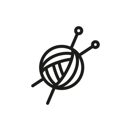 Threads for knitting, spokes icon on white background Created For Mobile, Web, Decor, Print Products, Applications. Icon isolated. Vector illustration
