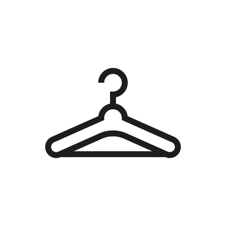 clothing rack: Hanger icon on white background Created For Mobile, Infographics, Web, Decor, Print Products, Applications. Icon isolated. Vector illustration Illustration