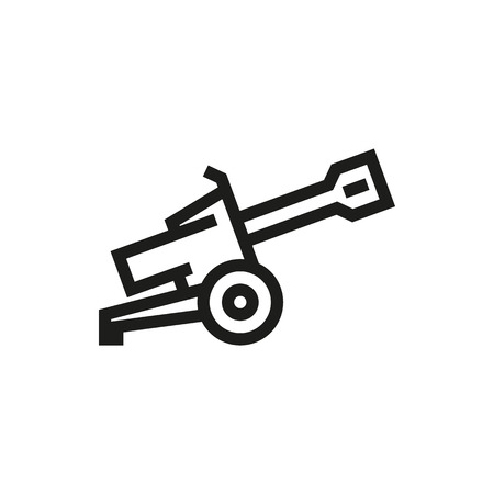howitzer: Cannon icon on white background Created For Mobile, Web, Decor, Print Products, Applications. Icon isolated. Vector illustration