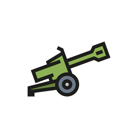 arsenal: Cannon icon on white background Created For Mobile, Web, Decor, Print Products, Applications. Icon isolated. Vector illustration
