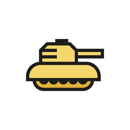 Tank Icon on white background Created For Mobile, Web, Decor, Print Products, Applications. Icon isolated. Vector illustration