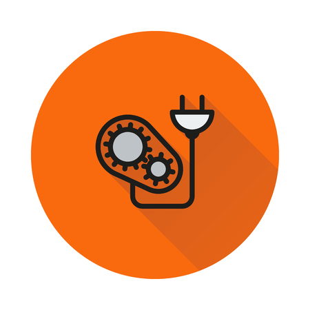 Energy icon suitable icon on round background Created For Mobile, Web, Decor, Print Products, Applications. Icon isolated. Vector illustration Illustration