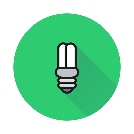 halogen: Energy saving Light Bulb on round background Created For Mobile, Web, Decor, Print Products, Applications. Icon isolated. Vector illustration