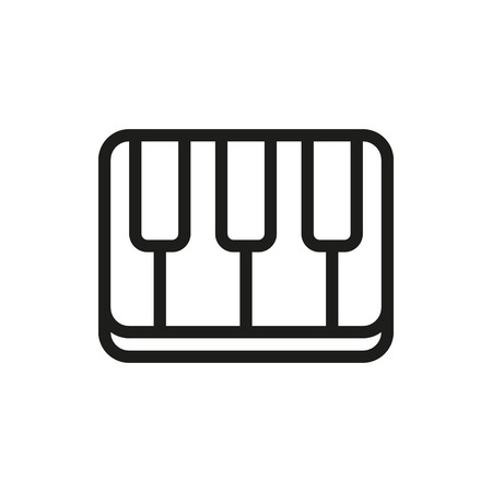 compose: Creative piano keyboard on white background Created For Mobile, Web, Decor, Print Products, Applications. Icon isolated. Vector illustration Illustration