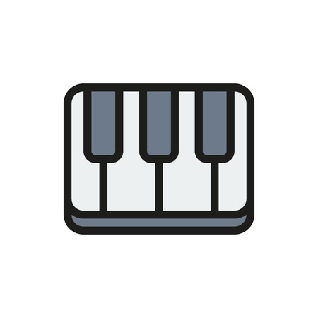 key pad: Creative piano keyboard on white background Created For Mobile, Web, Decor, Print Products, Applications. Icon isolated. Vector illustration Illustration