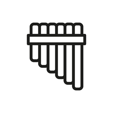 panpipe: Pan flute icon on white background Created For Mobile, Web, Decor, Print Products, Applications. Icon isolated. Vector illustration Illustration
