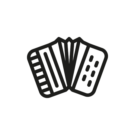 harmonic: Accordion icon on white background Created For Mobile, Web, Decor, Print Products, Applications. Icon isolated. Vector illustration Illustration