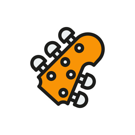 headstock: guitar headstock on white background Created For Mobile, Web, Decor, Print Products, Applications. Icon isolated. Vector illustration