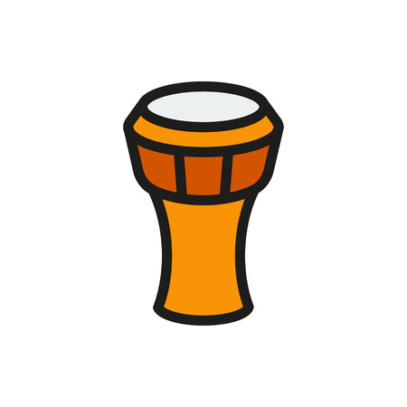 Ethnic drum icon on white background Created For Mobile, Web, Decor, Print Products, Applications. Icon isolated. Vector illustration Illustration