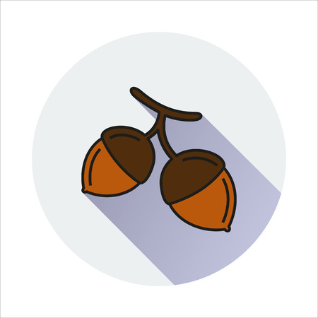 hazelnut: Hazelnut simple icon on white background Created For Mobile, Web, Decor, Print Products, Applications.