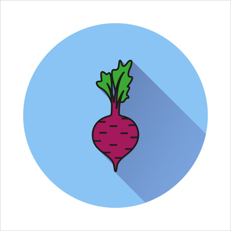 Beet simple icon on white background Created For Mobile, Web, Decor, Print Products, Applications.