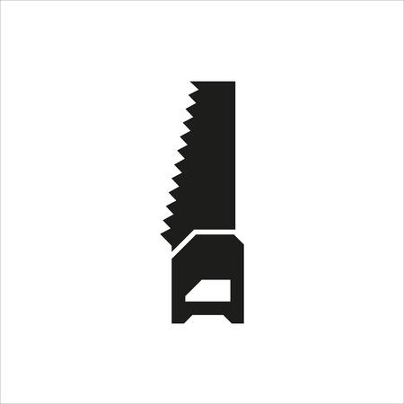 serrucho: icono de sierra de mano sobre fondo blanco Creado para móviles, Web, decoración, impresión Productos, Aplicaciones. el icono aislado.
