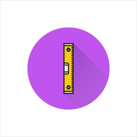 Bubble niveau teken pictogram op witte achtergrond gemaakt voor mobiel, Web, Decor, Print producten, toepassingen. Pictogram geïsoleerd.