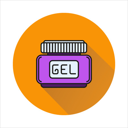 hair gel: hair gel icon Created For Mobile, Web, Decor, Print Products, Applications. Color icon isolated.