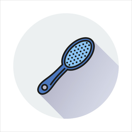 comb hair: Massage Comb Hair icon Created For Mobile, Web, Decor, Print Products, Applications. Color icon isolated.