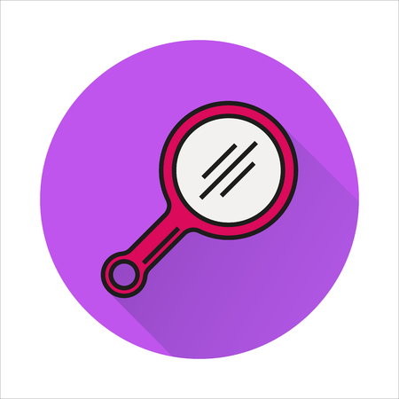 look in mirror: mirror line icon Created For Mobile, Web, Decor, Print Products, Applications. Color icon isolated.