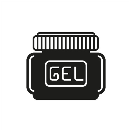 hair gel: hair gel icon Created For Mobile, Web, Decor, Print Products, Applications. Black icon isolated. Illustration