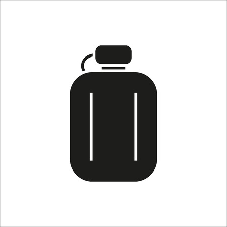 hip flask: Hip flask simple icon on white background Created For Mobile, Web, Decor, Print Products, Applications. Black icon isolated.