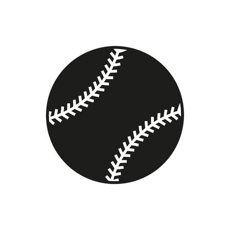 hardball: Baseball line art icon for sports apps and websites
