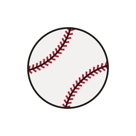Baseball line art icon for sports apps and websites