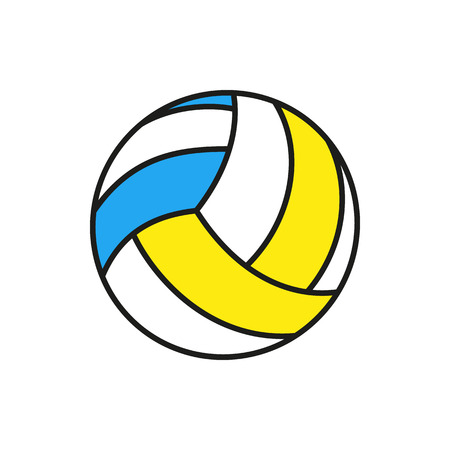volleyball ball icon on white background Created For Mobile, Web, Decor, Print Products, Applications. Icon isolated