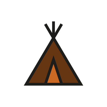 wigwam: wigwam icon on white background Created For Mobile, Web, Decor, Print Products, Applications. Icon isolated.