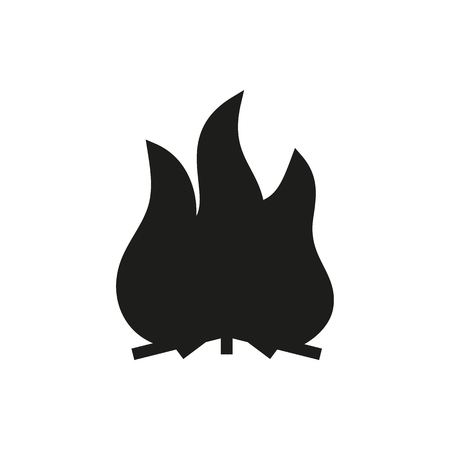 woodpile: Fire icon on white background Created For Mobile, Web, Decor, Print Products, Applications. Icon isolated.