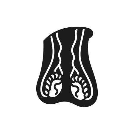 genitali: Icona maschile sistema riproduttivo su sfondo bianco creato per il Mobile, Infografica, Web, Arredamento, stampa prodotti, applicazioni. Icon isolato. Vettoriali
