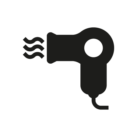 Hairdryer icon on white background Created For Mobile, Web, Decor, Print Products, Applications. Icon isolated.