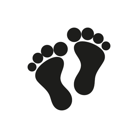massage symbol: foot symbol icon on white background Created For Mobile, Web, Decor, Print Products, Applications. Icon isolated.