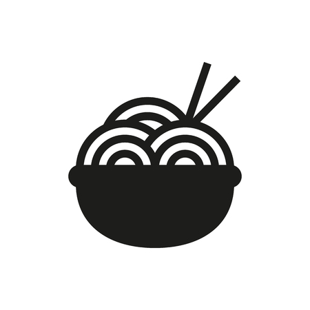 Noodle symbol icon on white background Created For Mobile, Web, Decor, Print Products, Applications. Icon isolated Illustration