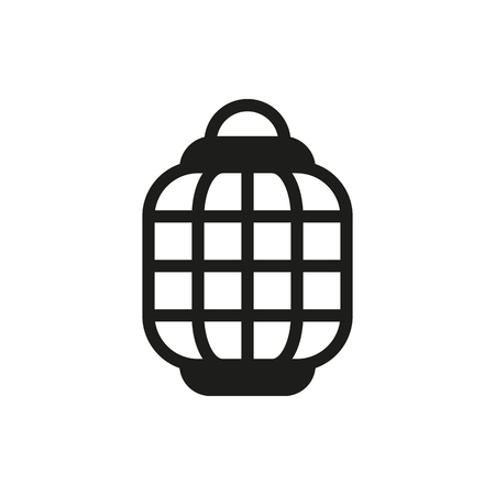 Chinese paper street lanterns icon on white background Created For Mobile, Web, Decor, Print Products, Applications. Icon isolated.