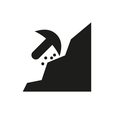 mattock: mining icon on white background Created For Mobile, Infographics, Web, Decor, Print Products, Applications. Icon isolated.