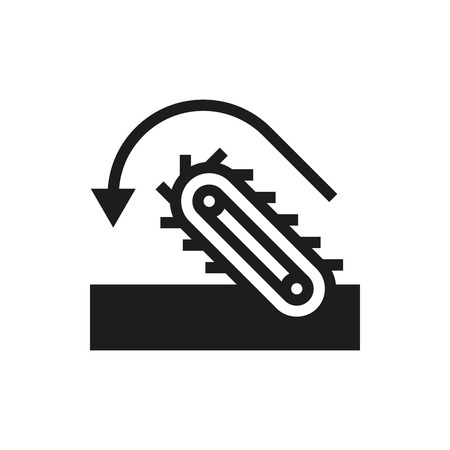 shaft: conveyor icon on white background Created For Mobile, Infographics, Web, Decor, Print Products, Applications. Icon isolated. Illustration