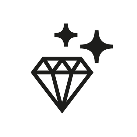 karat: Diamond icon on white background Created For Mobile, Infographics, Web, Decor, Print Products, Applications. Icon isolated. Illustration