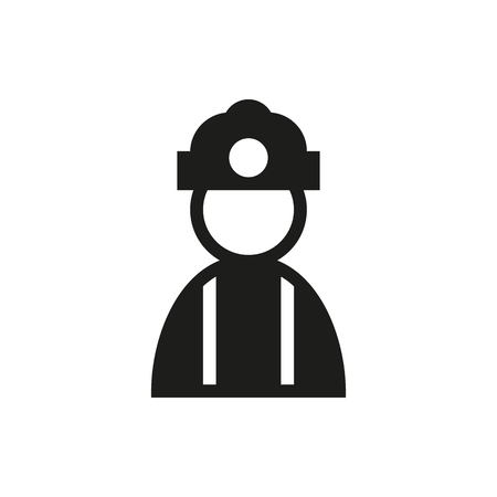coal miner: Coal miner icon on white background Created For Mobile, Infographics, Web, Decor, Print Products, Applications. Icon isolated. Illustration