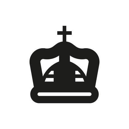 royal person: crown icon on white background Created For Mobile, Infographics, Web, Decor, Print Products, Applications. Icon isolated. Illustration