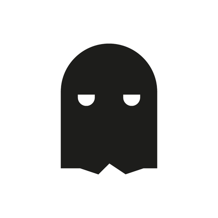 ahorcado: mask icon on white background Created For Mobile, Infographics, Web, Decor, Print Products, Applications. Icon isolated. Vectores