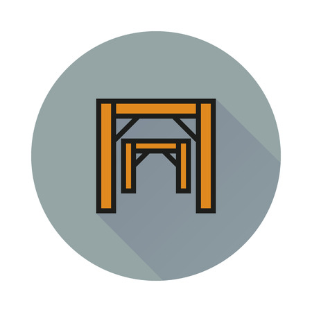 ore: Mining concept mine entrance icon on round background Created For Mobile, Infographics, Web, Decor, Print Products, Applications. Illustration