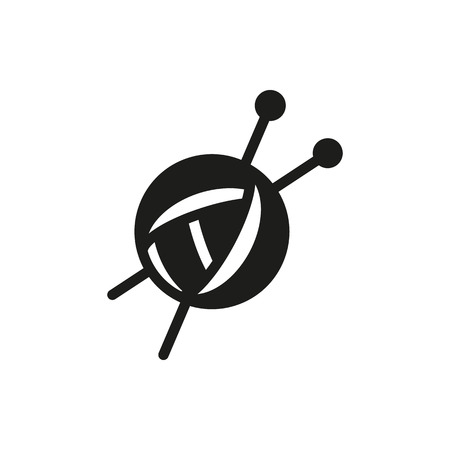 Threads for knitting, spokes icon on white background Created For Mobile, Web, Decor, Print Products, Applications. Иллюстрация