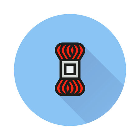 skein fleece yarn icon on round background Created For Mobile, Infographics, Web, Decor, Print Products, Applications.