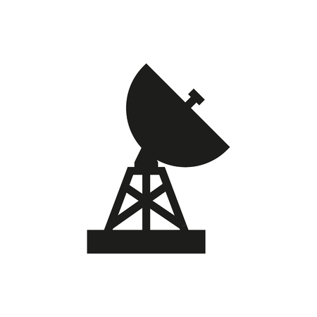 Satellite, military, radar icon on white background Created For Mobile, Web, Decor, Print Products, Applications. Illustration