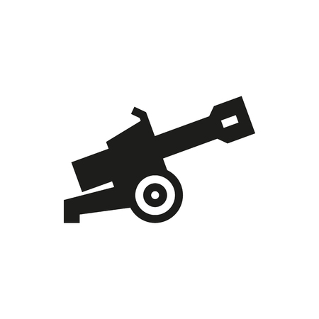 howitzer: Cannon icon on white background Created For Mobile, Web, Decor, Print Products, Applications. Icon isolated.