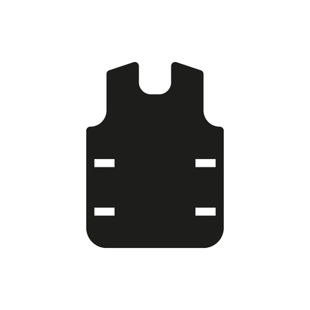 bulletproof vest icon on white background Created For Mobile, Web, Decor, Print Products, Applications. Icon isolated. Illustration